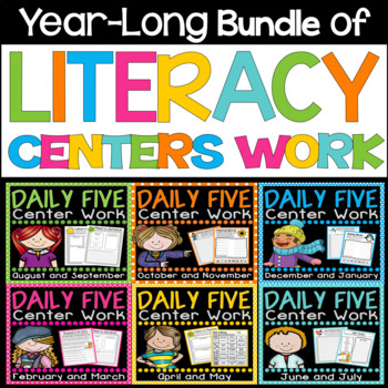 Literacy Centers Work {Year Long Bundle}