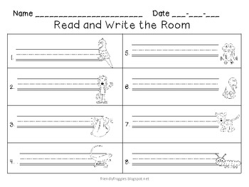Literacy Centers - Write the Room and Alphabetical Order - Rainforest Theme
