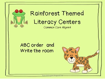 Literacy Centers - Write the Room and Alphabetical Order -