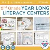 Literacy Centers YEAR LONG Bundle 2nd Grade