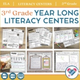 Literacy Centers YEAR LONG Bundle 3rd Grade