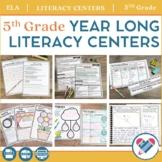 Literacy Centers YEAR LONG Bundle 5th Grade