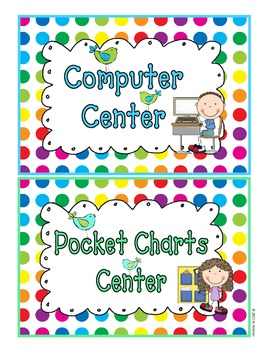 Literacy Centers and Classroom Rules - Birds  and Dots