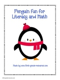 Literacy Centers and Math Centers Fun with Penguins
