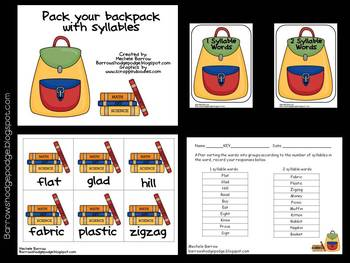 Literacy Centers for Back to School