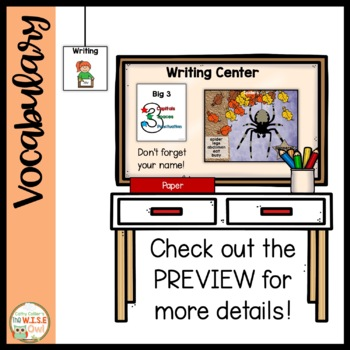 Literacy Centers for Independence: Fall Writing Posters