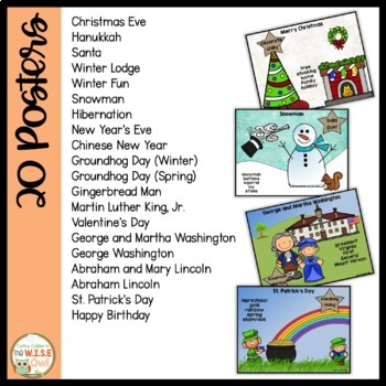 Literacy Centers for Independence: Winter Writing Posters