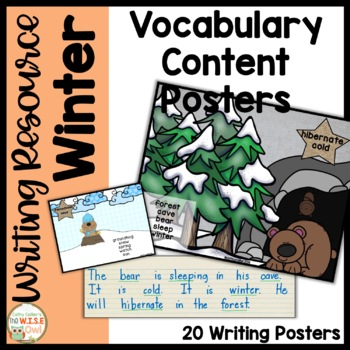 Content Word Posters for K-1 Writing for Winter