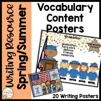 Content Word Posters for K-1 Writing for Spring and Summer