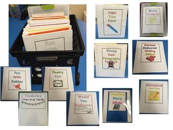 Literacy Centers for Middle School ELA Bundle ~ 10 Centers!