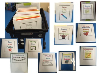 Literacy Centers for Middle School ELA Collection ~ 10 Centers!