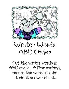 Literacy Centers for Winter