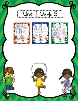 Literacy Centers for Wonders First Grade Unit 1 Bundle