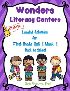 Literacy Centers for Wonders First Grade Unit 1 Week 1
