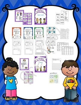 Literacy Centers for Wonders First Grade Unit 1 Week 2