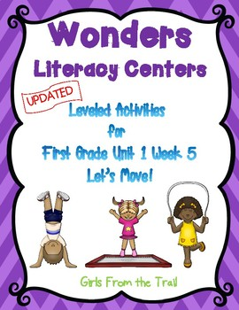 Literacy Centers for Wonders First Grade Unit 1 Week 5