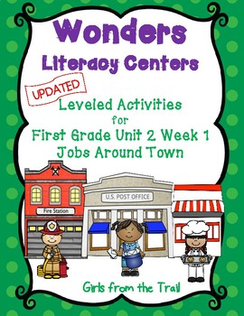 Literacy Centers for Wonders First Grade Unit 2 Week 1