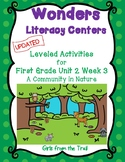 Literacy Centers for Wonders First Grade Unit 2 Week 3