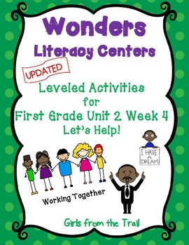 Literacy Centers for Wonders First Grade Unit 2 Week 4