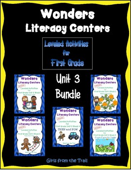 Literacy Centers for Wonders First Grade Unit 3 Bundle