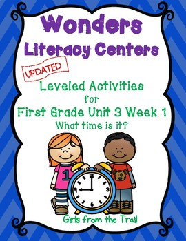 Literacy Centers for Wonders First Grade Unit 3 Week 1