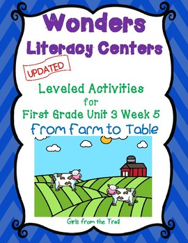 Literacy Centers for Wonders First Grade Unit 3 Week 5