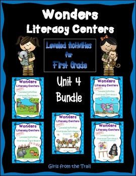 Literacy Centers for Wonders First Grade Unit 4 Bundle