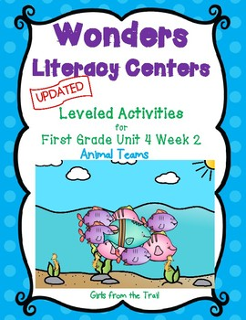 Literacy Centers for Wonders First Grade Unit 4 Week 2