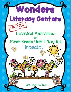 Literacy Centers for Wonders First Grade Unit 4 Week 4