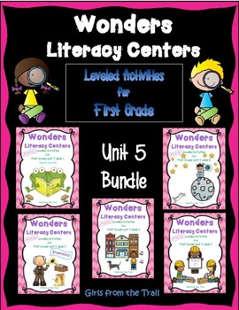 Literacy Centers for Wonders First Grade Unit 5 Bundle