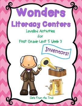 Literacy Centers for Wonders First Grade Unit 5 Week 3