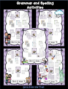 Literacy Centers for Wonders First Grade Unit 6 Bundle
