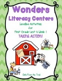 Literacy Centers for Wonders First Grade Unit 6 Week 1