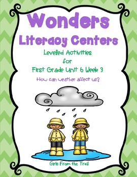 Literacy Centers for Wonders First Grade Unit 6 Week 3