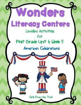 Literacy Centers for Wonders First Grade Unit 6 Week 5