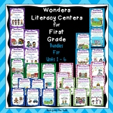 Literacy Centers for Wonders First Grade Units 1-6 Bundle