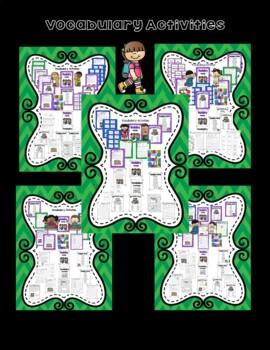 Literacy Centers for Wonders Second Grade Unit 1 Bundle