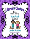 Literacy Centers for Wonders Second Grade Unit 1 Week 3