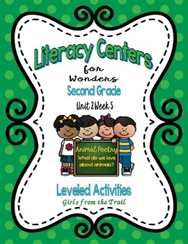 Literacy Centers for Wonders Second Grade Unit 2 Week 5