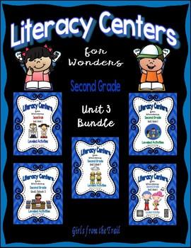 Literacy Centers for Wonders Second Grade Unit 3 Bundle