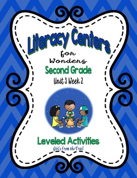 Literacy Centers for Wonders Second Grade Unit 3 Week 2