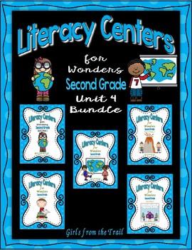 Literacy Centers for Wonders Second Grade Unit 4 Bundle