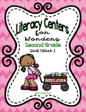 Literacy Centers for Wonders Second Grade Unit 5 Week 1