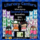 Literacy Centers for Wonders Second Grade Units 1 - 6 Bundle