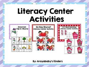 Literacy Centers for the Busy Kindergarten Teacher- winter