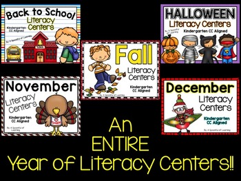 Literacy Centers for the Year BUNDLED! Aligned to the CC