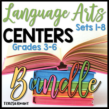 Literacy Centers for the Year Bundle for 3rd, 4th, 5th, and 6th Grade