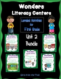 Literacy Centers for Wonders First Grade Unit 2 Bundle
