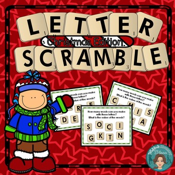 Literacy Centers or Early Finisher Letter Scramble Christmas Edition
