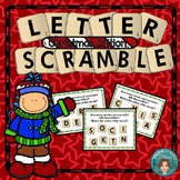 Literacy Centers or Early Finisher Letter Scramble Christm